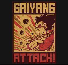 Saiyans Attack! T-Shirt $11 Dragon Ball tee at RIPT today only!