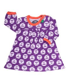 Baby Violet & White Birdy Dress by Fred's World by Green Cotton on #zulilyUK today!