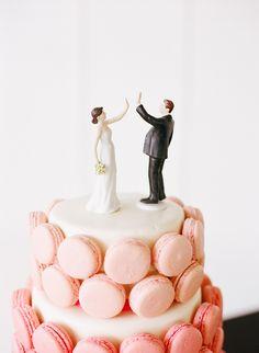 Cake topper + Macarons (Cake: La Petite Sucre) - Kentucky English Garden Wedding by Chris Cornwell Photography