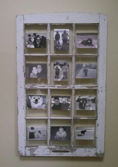 Window pane to picture frame