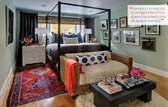 great layout for a studio apartment. If I ever move in to a studio apartment I will remember this.