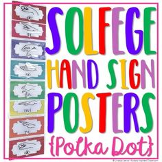 Solfege Hand Sign Posters - Polka Dot - Looking for ways to brighten up your… Piano Lessons, Music Lessons, Middle School Choir, Music Bulletin Boards, Music Classroom, Classroom Ideas, Music Teachers, Music Worksheets, Teaching Music