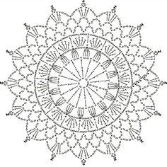 Motif Mandala Crochet, Crochet Motif Patterns, Granny Square Crochet Pattern, Crochet Diagram, Crochet Stitches, Crochet Mittens Free Pattern, Crochet Snowflake Pattern, Free Crochet, Lace Doilies