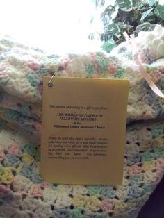 Prayer Shawl Card pinned on shawls at Williamson, NY UMC Prayer Poems, Prayer Verses, Prayer Cards, My Prayer, Crochet Prayer Shawls, Crochet Shawl, Crochet Yarn, Crochet Wraps, Chrochet