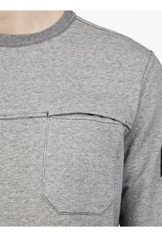 Stone Island Men's Grey Cotton Sweatshirt Teen Boy Fashion, Sport Fashion, Mens Fashion, Blazers, Fashion Details, Lounge Wear, Sportswear, Men Sweater, Casual