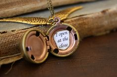 Harry Potter Golden Snitch Necklace I Open At The by spacepearls on Wanelo