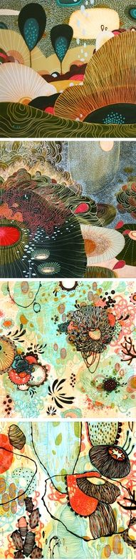 yellena james - patterns- love the bottom two - probably expensive art but totally what I would love in my bedroom