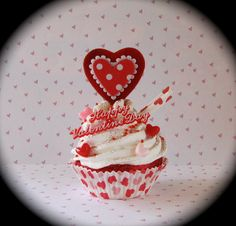 Valentines Day Home Decor Fake Cupcake Retro by 12LegsCuriosities, $8.99