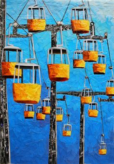 "Albin Talik ""Amusement II"" 30X21cm paper and glue on canvas"