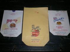 3-PAPER FLOUR SACKS TRIPLETT'S & HOP-UP CULPEPER VA NEVER USED OLD STOCK #TRIPLETTMILLINGCOHOPUP