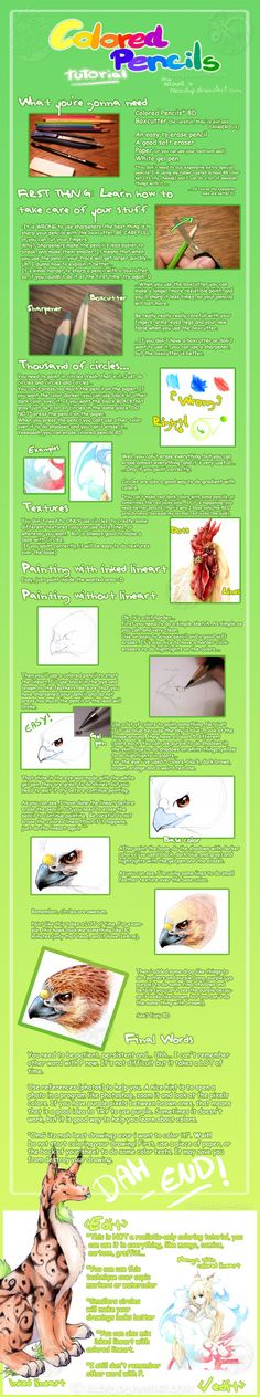 Colored Pencils Tutorial by Meedup on deviantART