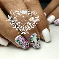 18 beautiful nails you need to see right now 00057 Gorgeous Nails, Pretty Nails, Gel Nagel Design, Nail Art Techniques, Floral Nail Art, Cute Nail Art, Super Nails, Nagel Gel, Green Nails
