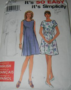 Simplicity Sewing Pattern 8024 So Easy Misses Petite Dress Size 6 16 Uncut SimplicityNewLook