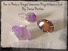 How to Make a Pronged Gemstone Ring without a Torch by Denise Mathew❤Hippie Hugs with Lღve, Michele❤