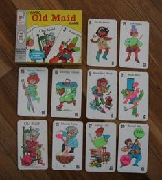 toys Childhood Memory Keeper: Retro Pop Culture from the and Old Maid Card Game 1970s Childhood, Childhood Games, My Childhood Memories, Best Memories, 70s Toys, Remember The Time, Retro Pop, Oldies But Goodies, Ol Days