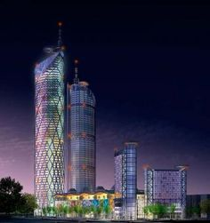 """Parc 1, Yeouido by """"Rogers Stirk Harbour + Partners   #architecture #building #tower #modern"""