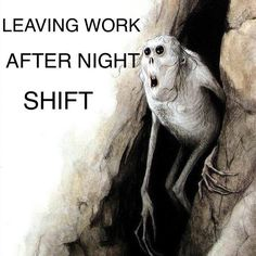 That moment when you finish night shift and you walk out into sunlight..