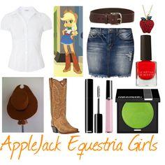 """AppleJack (Equestria Girls)"" by raissaspina on Polyvore"