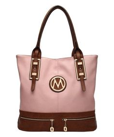 f1442baa130e Loving this Dust Pink Logo-Accent Tote on  zulily!  zulilyfinds Best  Handbags