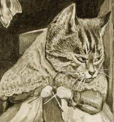 Detail of rare Beatrix Potter illustration, Squinterina