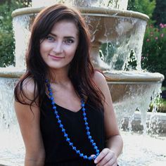 "TONIGHT we launch the first of our Recycled Paper Bead Signature Necklace Collection! And BIG thanks to our summer intern Katie Brandt for modeling them so well and to our talented photographer Wendy Simons Porter for donating her time and talent to help us get our new collection on our online store!   Introducing ""South Blue"" Signature Necklace the perfect accessory to your back to school wardrobe! Giving back in BIG ways to the income of the Masai mamas who make them in Kenya as well as…"