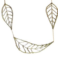 5 leaf necklace made in metallic golden thread leaves interspersed along delicate chain    available in   silver thread with sterling  gold thread with 14kt gold fill      $165.00 Leaf Necklace, Artisan Jewelry, Bridal Jewelry, Fill, Creativity, Delicate, Metallic, Jewelry Making, Wedding Rings