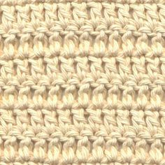 This step-by-step tutorial for a double crochet stitch, an important foundation of crochet.