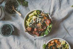 Kimchi Ahi Yellowfin Tuna Poke Bowl | bettysliu.com