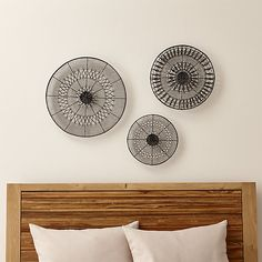 Intricate Circle Metal Wall Art Set at Crate and Barrel Canada. Discover unique furniture and decor from across the globe to create a look you love. Circle Metal Wall Art, Circle Art, Mirror Wall Art, Wall Art Sets, Wood And Metal, Black Metal, Metal Art, Custom Furniture, Unique Furniture