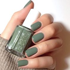 A manicure is a cosmetic elegance therapy for the finger nails and hands. A manicure could deal with just the hands, just the nails, or New Nail Colors, Nail Color Trends, Color Nails, Winter Nail Colors, Nagellack Trends, Green Nails, Green Nail Polish, Fall Nail Polish, Red Nail