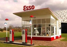 Dutch architect Willem Marinus Dudok designed this standard petrol station commissioned by Esso in 1953.