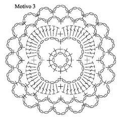 Patterns and motifs: Crocheted motif no. 886