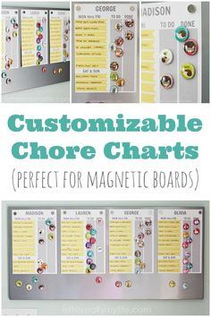 Customizable Chore Charts Perfect for Magnetic Boards | isthisreallymylife.com