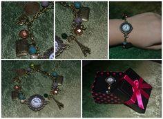 """Handmade bronze bracelet """"Travel""""."""