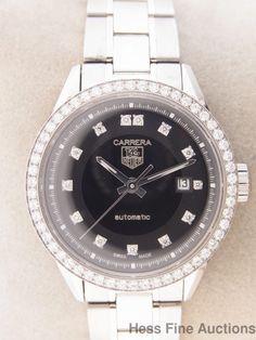 Tag Heuer Carrera Diamond Bezel Dial Automatic Date Ladies Wrist Watch #TAGHeuer #Dress