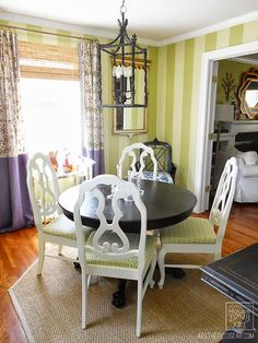 Striped walls, chinoiserie, Aesthetic Oiseau: AO House Tour: Dining Room