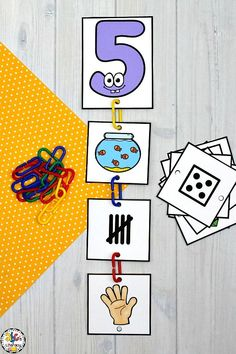 This Connect Links Subsitizing Numbers Sort is a fun, hands-on way to practice identifying and sorting by numbers. Connecting the links together is a great way for preschoolers, kindergartners, and first graders to develop their fine motor skills too. This learning numbers activity can be used for math centers, morning tubs, or as an enrichment activity for early finishers. Click on the picture to learn more about this number sense activity! #subsitizingnumbersactivty #numbersenseactivity