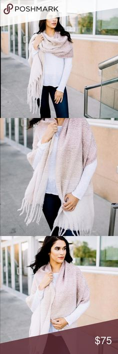 MER-SEA Blush Scarf Wrap Wrap up in our coziest scarf ever! This luxuriously soft 100% polyester knitted scarf will keep you warm while looking chic. Mer Sea Accessories Scarves & Wraps