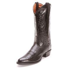 Nocona Mens R Toe Cowboy Boots Black