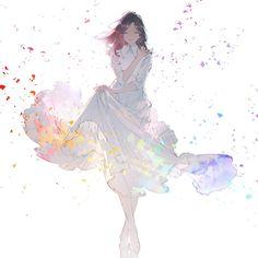 Anime Art Girl, Manga Girl, Anime Girls, Aesthetic Art, Aesthetic Anime, Image Manga, Foto Art, Beautiful Anime Girl, Anime Scenery