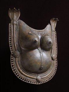 Bronze from South India Breastplate of Sarala Jumadi bronze .