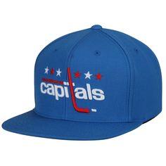 separation shoes 46dc1 4d159 Mitchell   Ness Washington Capitals Blue Vintage Solid Adjustable Snapback  Hat