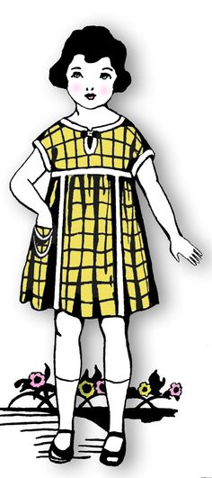 1920s Girls Frock and Little Miss Muffet Hat...can't wait to make this