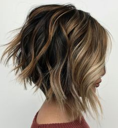 "70 Overwhelming Ideas for Short Choppy Haircuts - - Disconnected Inverted Shaggy Bob Disconnected choppy haircuts are easy to manage because they show no ""mistakes"" in styling. The shaggy pieces add to the purposely messy silhouette. Short Choppy Haircuts, Shaggy Bob Haircut, Messy Bob Hairstyles, Short Hair Cuts, Pixie Haircuts, Medium Hairstyles, Wedding Hairstyles, Natural Hairstyles, A Line Haircut Short"