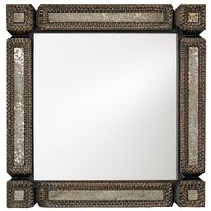 Tramp Art, Square ($740) ❤ liked on Polyvore featuring home, home decor, mirrors, frames, decor, backgrounds, borders, picture frame and square mirror