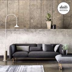 Our beautiful #Yuva sofa and pouf - designed by Aksu / Suardi for @de_padova in 2012 - featured on @houseandleisure's website today. Take a look at http://www.houseandleisure.co.za/trend-concrete/