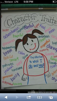 Helping students understand what character traits are