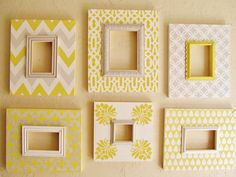 Set+of+Six+Distressed+Frames+Chevron+Moroccan+by+AmberLaneFrames,+$175.00
