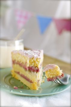 coconut lemon raspberry cake which happens to be BOTH vegan and gluten free.  Found on namelymarly.com