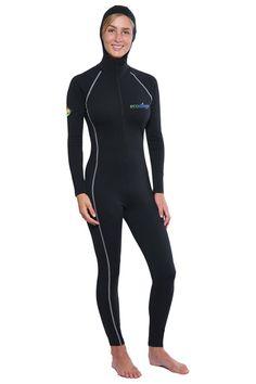 5804ebb5aa2e Women Full Body UV Swimsuit With Hood UPF50+ Protection (Chlorine Resistant)